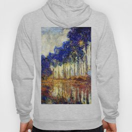 Monet : Poplars on the Banks of the River Epte, 1891 Hoody
