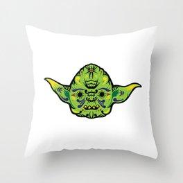 Dead Yoda Throw Pillow