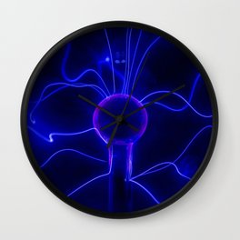 Blue Lightnings Wall Clock