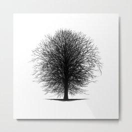 Tree Silhouettes Collapsed - Black Metal Print