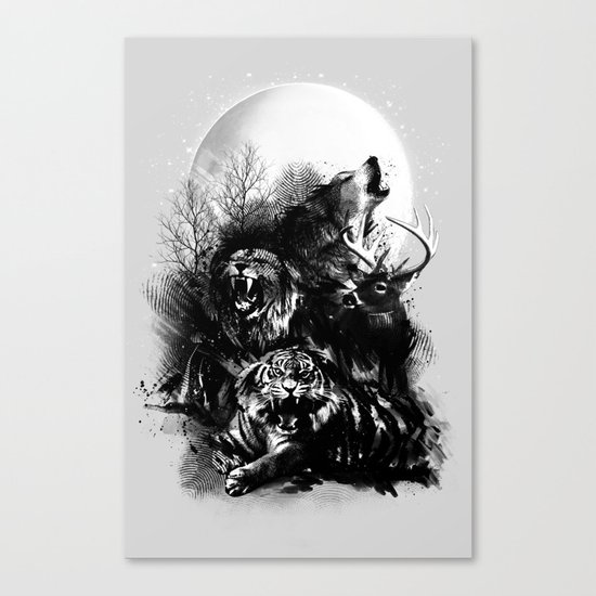 Call of the Wild (GRAY) Canvas Print
