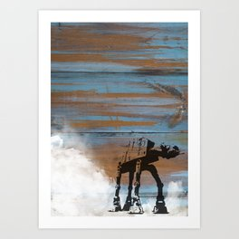 Blue Hoth Art Print
