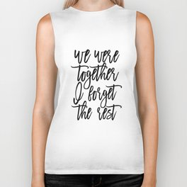 Walt Whitman Poems, We Were Together I Forget The Rest,Love Quote, Love Sign,Gift Idea Biker Tank