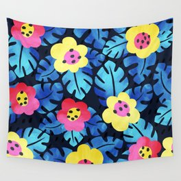 Watercolor tropical bloom Wall Tapestry