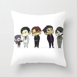 Awakusu lineup Throw Pillow