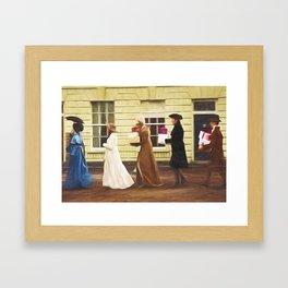 A days shopping Framed Art Print