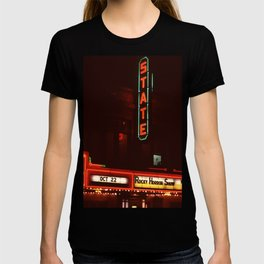 Night Lights State Street Theater, Ithaca NY T-shirt