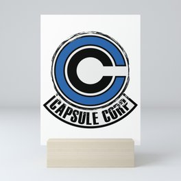 Capsule corp dragon ball trunks bulma logo super saiyan Mini Art Print