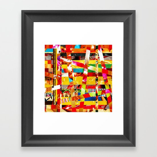 Jiseo (stripes 12) Framed Art Print