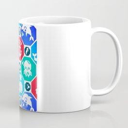 Marine Animals Geometric Pattern Coffee Mug