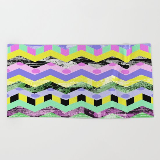 Zig This & Zag That! Beach Towel