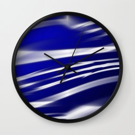 Ocean Flag Of Love and Peace Wall Clock