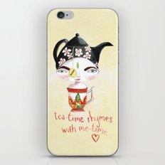 Miss Tea-Time iPhone & iPod Skin