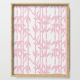 Bamboo Rainfall in Blushing Bride Serving Tray