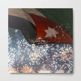 Jordan Fireworks Metal Print