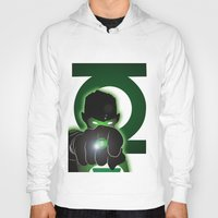 green lantern Hoodies featuring Green Lantern by Adam Surin Max