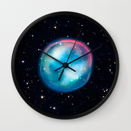 Planetary Nebula (Ghost) Wall Clock
