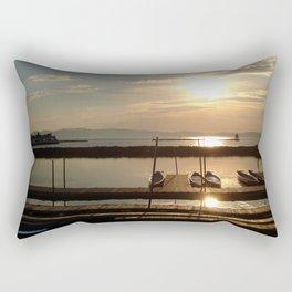 Lake Champlain Ferry to Burlington Vermont at Sunset Rectangular Pillow