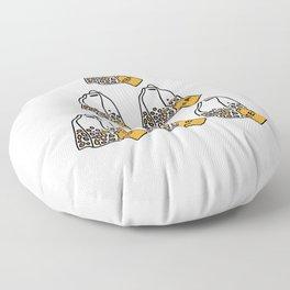 Six Tea 60th Birthday Born In 1960 Gift Floor Pillow