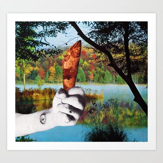 L'ultima volta che siamo andati a pesca insieme Art Print