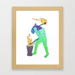 tum! tum! Framed Art Print