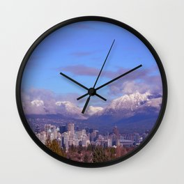 Downtown Vancouver Panorama Wall Clock