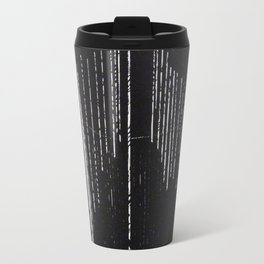 "Linocut fine art print - black and white - ""Lost III"" - abstract Travel Mug"