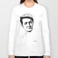 springsteen Long Sleeve T-shirts featuring Woody Guthrie by Paul Nelson-Esch Art