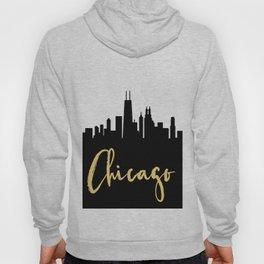 CHICAGO ILLINOIS DESIGNER SILHOUETTE SKYLINE ART Hoody
