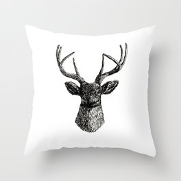 Deer Antlers Throw Pillow