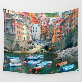 Italy. Cinque Terre marina Wall Tapestry