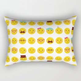 Cheeky Emoji Faces Rectangular Pillow
