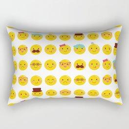 Cheeky Emoji Faces Rectangular Pillow