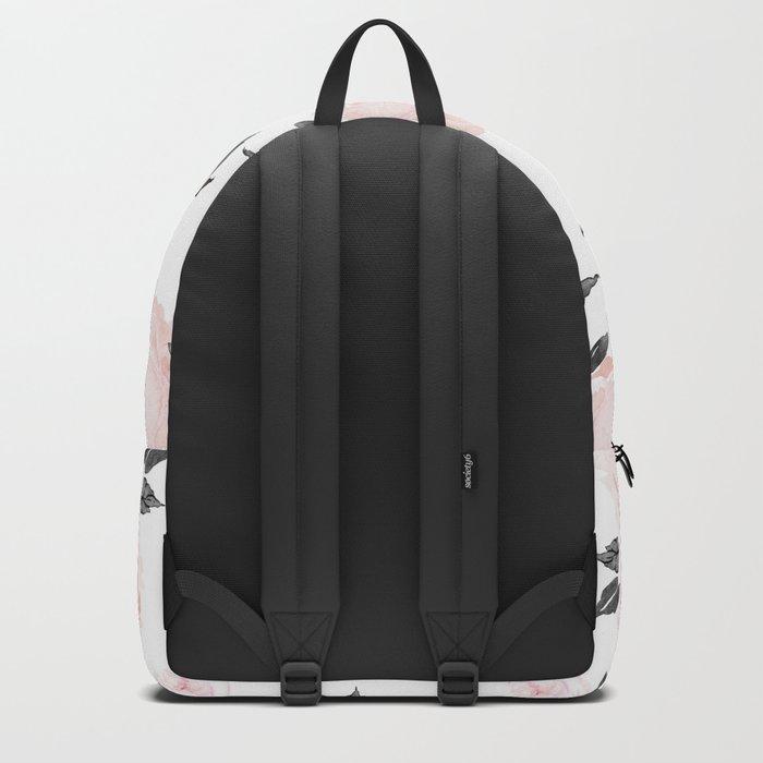 14f0be50d0 Vintage Blush Floral BW -medium Backpack by crystalwalen