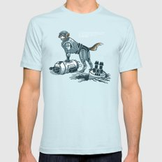 Robopup Light Blue SMALL Mens Fitted Tee