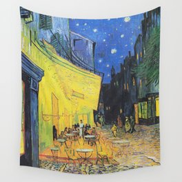 Café Terrace at Night by Vincent van Gogh Wall Tapestry