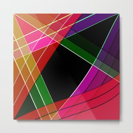 Colored silk Metal Print
