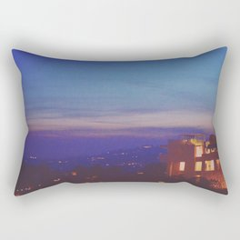 The Getty at Twilight Rectangular Pillow