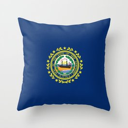 New Hampshire State Flag Throw Pillow