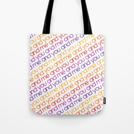 You and Me Rainbow Tote Bag