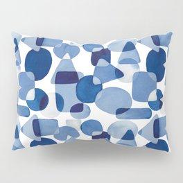 Blue Watercolour Geometric Pillow Sham