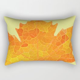 Colorful Stained Glass Tiffany style botanical print Rectangular Pillow