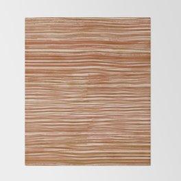 Rake Watercolor in Orange Throw Blanket