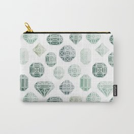 Green Gemstones Carry-All Pouch