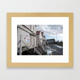 Sea Wall | Tollesbury England Framed Art Print