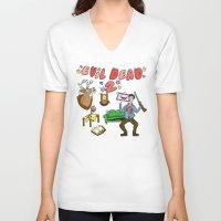 evil dead V-neck T-shirts featuring ♥ EVIL DEAD 2 ♥ by Josh LaFayette