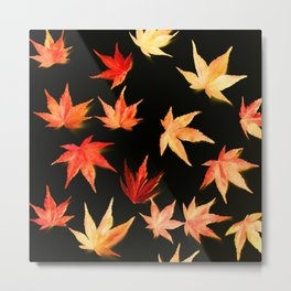AUTUMN ROMANCE - LEAVES PATTERN #3 #decor #art #society6 Metal Print