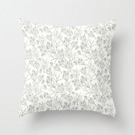 #Floral thin line #pattern #art #design Throw Pillow