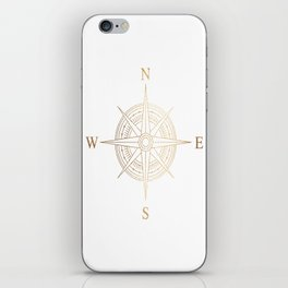 Gold Compass iPhone Skin