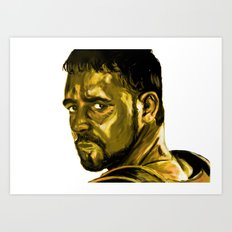 Gladiator (Russell Crowe) Art Print